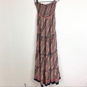 Free People | Boho tiered maxi dress XS